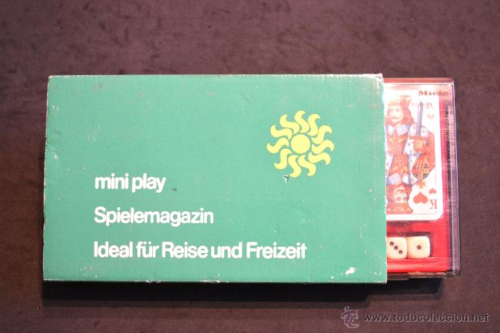 Juegos de mesa: SET ESTUCHE JUEGO MINIPLAY SPIELEMAGAZIN MIELE NUEVO SIN USO - Foto 2 - 53866121