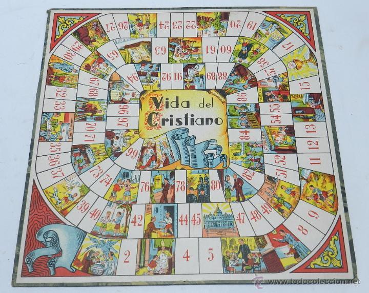 Tablero del juego de la oca con la vida del cri comprar juegos de mesa antiguos en - La oca juego de mesa ...