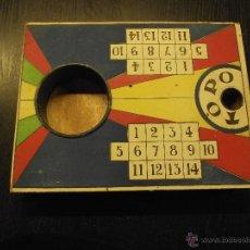 Juegos de mesa: JUEGO DEL TOPO AÑOS, HECHO EN MAHON, MENORCA, ENTRE 1945 Y 1950. Lote 54230267