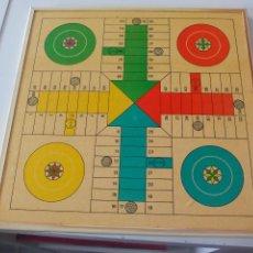 Juegos de mesa: ANTIGUO TABLERO DE JUEGO DE PARCHIS Y AJEDRÉZ.. Lote 54314229
