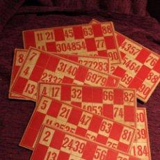 Juegos de mesa: LOTE DE 12 CARTONES DE BINGO--CARTÓN--ANTIGUOS. Lote 54348748