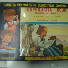 Juegos de mesa: CUENTOS INFANTILES EN DIAPOSITIVAS SONORAS-CAPERUCITA ROJA -15 DIAPOSITIVAS CON DISCO Y VISOR .. Lote 54388407