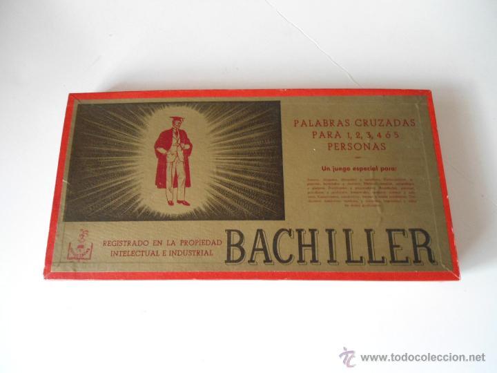 BACHILLER - JUEGO DE MESA - PALABRAS CRUZADAS - JUEGOS CRONE - COMPLETO - AÑOS 1950 (Juguetes - Juegos - Juegos de Mesa)
