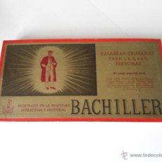 Juegos de mesa: BACHILLER - JUEGO DE MESA - PALABRAS CRUZADAS - JUEGOS CRONE - COMPLETO - AÑOS 1950. Lote 54389841