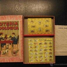 Juegos de mesa: LOTERIA ZOOLOGICA BORRAS AÑOS 20. Lote 54407255