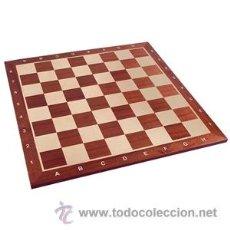 Juegos de mesa: TABLERO DE AJEDREZ DE MADERA DE CAOBA Y ARCE. 50MM CASILLAS Y ANOTACIÓN ALGEBRAICA. Lote 54556880