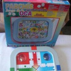 Juegos de mesa: PARCHIS Y JUEGO DE LA OCA CON DADOS AUTOMATICOS. Lote 54633343