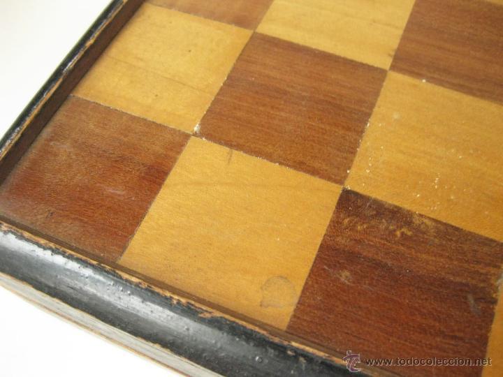 Juegos de mesa: ANTIGUO AJEDREZ CAJA DE MADERA Y MARQUETERIA DE PRINCIPIOS DEL SIGLO XX SIN PIEZAS - Foto 5 - 54696815