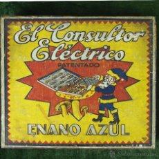 Juegos de mesa: EL CONSULTOR ELECTRICO ENANO AZUL. JUEGO DE MESA. SIN MARCA. ESPAÑA. CIRCA 1930.. Lote 49339455