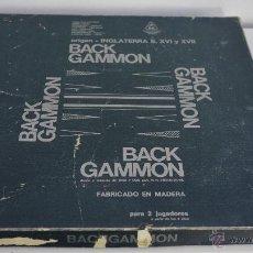 Juegos de mesa: JUEGO DE MESA BACKGAMMON. HENRY HIGGINS PROMOTIONS, MADRID. USADO Y COMPLETO. Lote 54885840