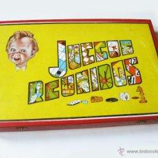 Juegos de mesa: CAJA DE JUEGOS REUNIDOS DE LOS AÑOS 50 CON 18 JUEGOS. BUEN ESTADO. Lote 54891293
