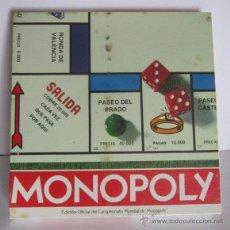 Juegos de mesa: JUEGO MONOPOLY, DE PARKER, EDICION OFICIAL, EN CAJA. CC. Lote 54919041