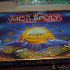 Juegos de mesa: MONOPOLY EDICION COMMEMORATIVA EURO COMPLETO BUEN ESTADO 1999. Lote 110080803