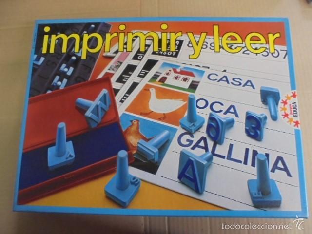 Educa Imprimir Y Leer Ref 3540 Jamas Usad Comprar Juegos De