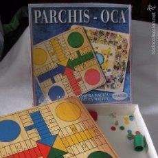 Juegos de mesa: ANTIGUO JUEGO PARCHIS OCA EN MADERA MACIZA GRUESA. Lote 55352089