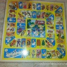 Juegos de mesa: TABLERO DEL JUEGO DE LA OCA Y PARCHIS PARA 6 JUGADORES - DE CARTON SOBRE MADERA. Lote 55933883