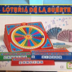 Juegos de mesa: LOTERÍA DE LA SUERTE (JUGUETES CHICOS). Lote 56019601