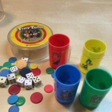 Juegos de mesa: FICHAS, DADOS Y CUBILETES DE TINY TOON. LOONEY TUNES. AÑOS 90. Lote 56032119