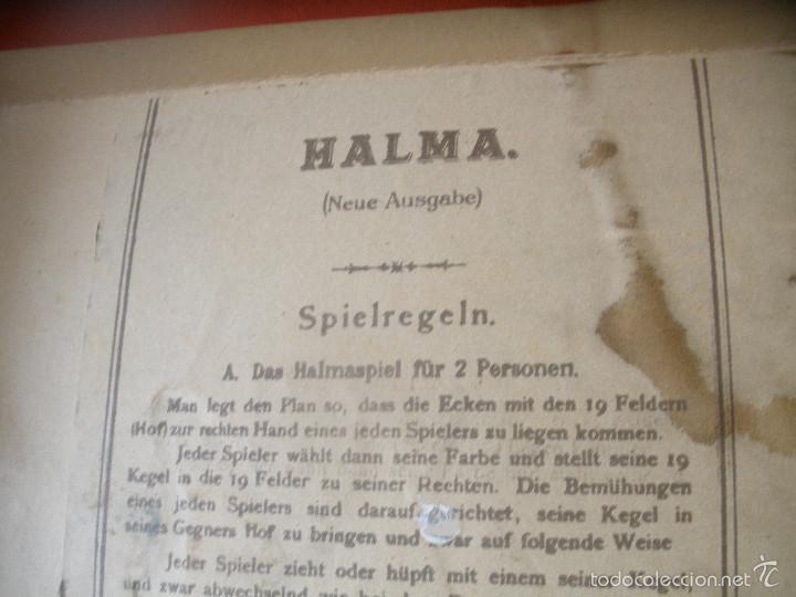 Juegos de mesa: ANTIGUO JUEGO HALMA.BAVIERA,ALEMANIA. - Foto 8 - 56043087