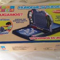 Juegos de mesa: HUNDEME SI PUEDES. CLÁSICO JUEGO DE BARCOS. SE PUEDE JUGAR ELECTRÓNICA O MANUALMENTE. ENVÍO 7 EUROS. Lote 56214130
