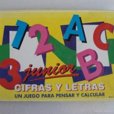 Juegos de mesa: CIFRAS Y LETRAS JUNIOR, UN JUEGO PARA PENSAR Y CALCULAR, FALOMIR 1993, COMPLETO.. Lote 194320558