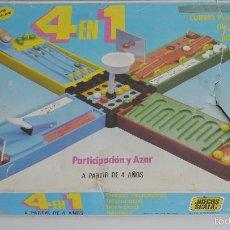 Juegos de mesa: JUEGO DE MESA DE LOS AÑOS 80. 4 EN 1. JUEGOS SCALA, REF: 803. Lote 147770436