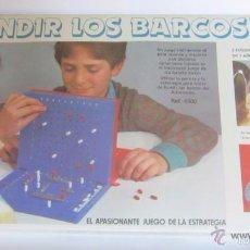 Juegos de mesa: JUEGO HUNDIR LOS BARCOS, DE FALOMIR, EN CAJA. CC. Lote 56560443