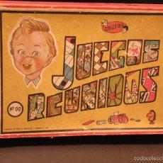 Juegos de mesa: JUEGOS REUNIDOS JEYPER OO EN CAJA DE MADERA Y CARTÓN. Lote 56856578