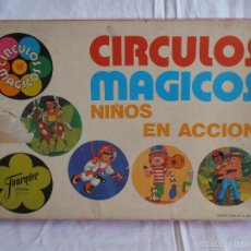 Juegos de mesa: JUEGO DE MESA CIRCULOS MAGICOS NIÑOS EN ACCION FOURNIER COMPLETO CON BARAJA REDONDA. Lote 57023374