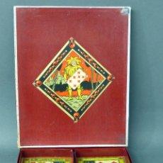 Juegos de mesa: JEU DU NAIN JAUNE JUEGO FRANCÉS CARTAS AÑOS 30 - 40 FICHAS INSTRUCCIONES CASI SIN USO. Lote 57085527