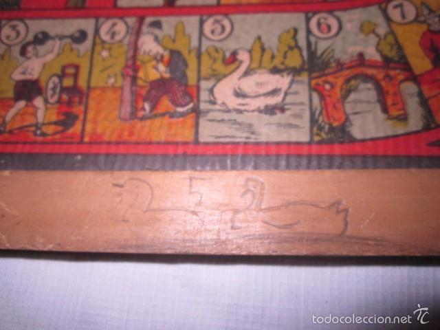 Juegos de mesa: Antiguo tablero Oca y Parchís de cartón con bordes de madera. 35 x 35 cms. - Foto 2 - 57101115
