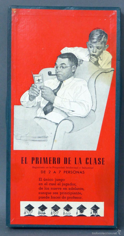 EL PRIMERO DE LA CLASE JUEGO MESA CRONE FRANCISCO ROSSELLÓ AÑOS 50 (Juguetes - Juegos - Juegos de Mesa)