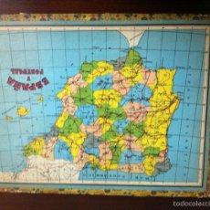Juegos de mesa: ANTIGUO PUZZLE ESPAÑA Y PORTUGAL.RFA1. Lote 57327996