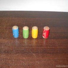 4 Cubiletes de madera parchis - Usados