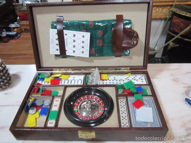 Estuche Con Juegos Ruleta Cartas Domino Comprar Juegos De