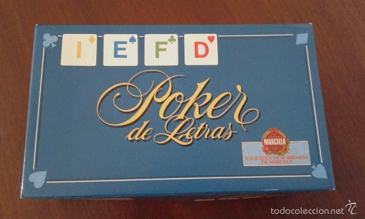 'POKER DE LETRAS' DE EDUCA. LOS JUEGOS DE SOBREMESA DE CAFÉS MARCILLA. COMPLETO Y SIN USAR. (Juguetes - Juegos - Juegos de Mesa)
