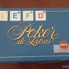 Juegos de mesa: 'POKER DE LETRAS' DE EDUCA. LOS JUEGOS DE SOBREMESA DE CAFÉS MARCILLA. COMPLETO Y SIN USAR.. Lote 57975841