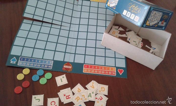 Juegos de mesa: Poker de letras de Educa. Los juegos de sobremesa de Cafés Marcilla. Completo y sin usar. - Foto 2 - 57975841