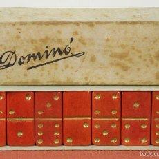 Juegos de mesa: JUEGO DE DOMINO EN MINIATURA. FICHAS DE MADERA. 28 FICHAS. CIRCA 1950. . Lote 57991789