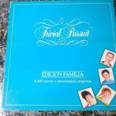 Juegos de mesa: TRIVIAL PURSUIT EDICION FAMILIA - INCOMPLETO - AÑOS 80. Lote 58065060