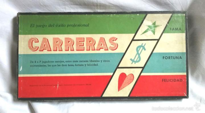 CARRERAS JUEGO DE MESA DE JUGUETES ROSELLÓ BCN AÑOS 40, COMPLETO, BUEN ESTADO (Juguetes - Juegos - Juegos de Mesa)
