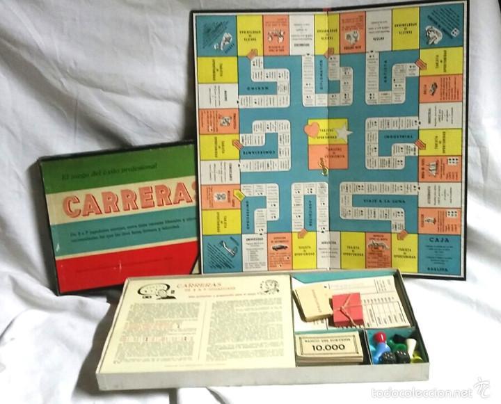 Juegos de mesa: Carreras juego de Mesa de juguetes Roselló Bcn años 40, completo, buen estado - Foto 2 - 58323372