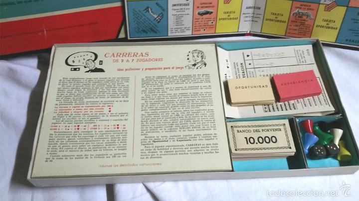 Juegos de mesa: Carreras juego de Mesa de juguetes Roselló Bcn años 40, completo, buen estado - Foto 4 - 58323372