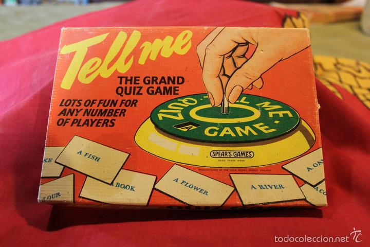 Tell Me Juego De Mesa Ingles Comprar Juegos De Mesa Antiguos En