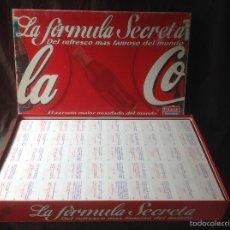 Juegos de mesa: ENVIO PENINSULA 4,66€ COCA COLA LA FÓRMULA SECRETA FALOMIR JUEGOS 2010. Lote 58399253