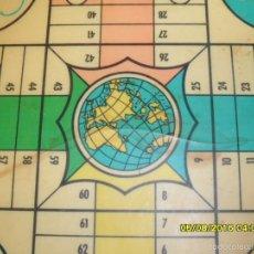 Juegos de mesa: MUY ANTIGUO JUEGO DE PARCHIS Y DE LA OCA DE MADERA TREN AVION BARCO AUTOBUS. Lote 58435897