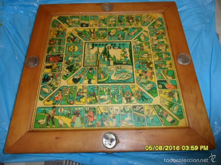 Juegos de mesa: MUY ANTIGUO JUEGO DE PARCHIS Y DE LA OCA DE MADERA TREN AVION BARCO AUTOBUS - Foto 2 - 58435897