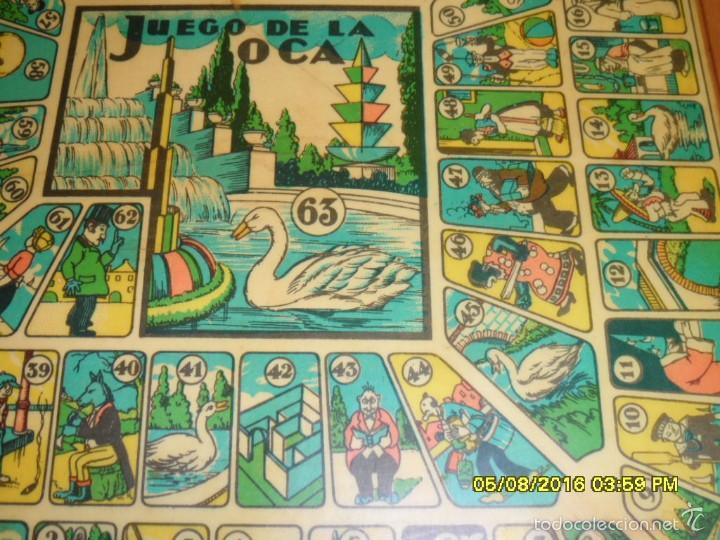 Juegos de mesa: MUY ANTIGUO JUEGO DE PARCHIS Y DE LA OCA DE MADERA TREN AVION BARCO AUTOBUS - Foto 3 - 58435897