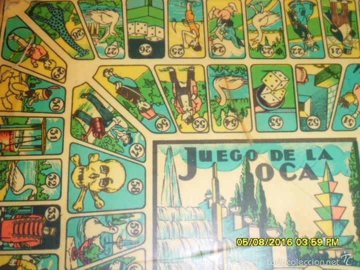 Juegos de mesa: MUY ANTIGUO JUEGO DE PARCHIS Y DE LA OCA DE MADERA TREN AVION BARCO AUTOBUS - Foto 7 - 58435897