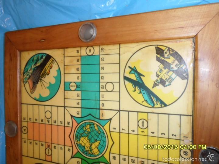 Juegos de mesa: MUY ANTIGUO JUEGO DE PARCHIS Y DE LA OCA DE MADERA TREN AVION BARCO AUTOBUS - Foto 9 - 58435897